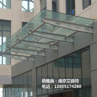 玻璃雨棚加工、南京玻璃雨棚定制
