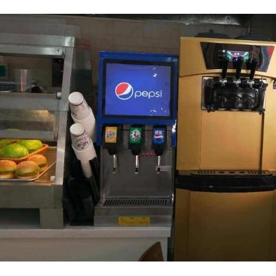 自助餐厅可乐机果汁机冰淇淋机安装