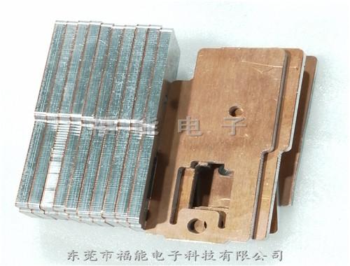 钎焊型铜铝过渡复合排 单面铜铝复合片福能非标定制