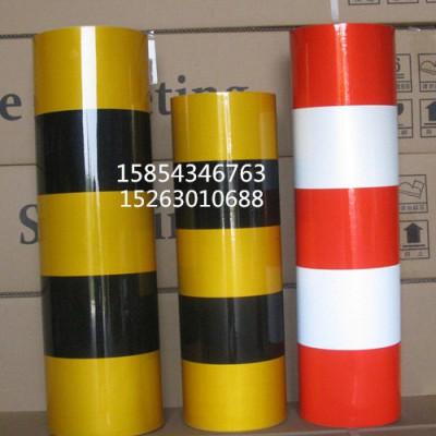 供应电线杆红白反光膜 黑黄斜纹反正反光警示贴