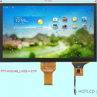10.1寸TFT横屏1024*600分辨率LVDS接口彩屏