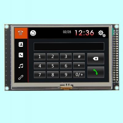 4.3寸MCU接口800*480高清TFT彩色模块