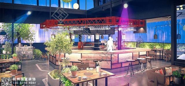 杭州市南苑450平方米主题餐厅设计施工-浙江国富装饰