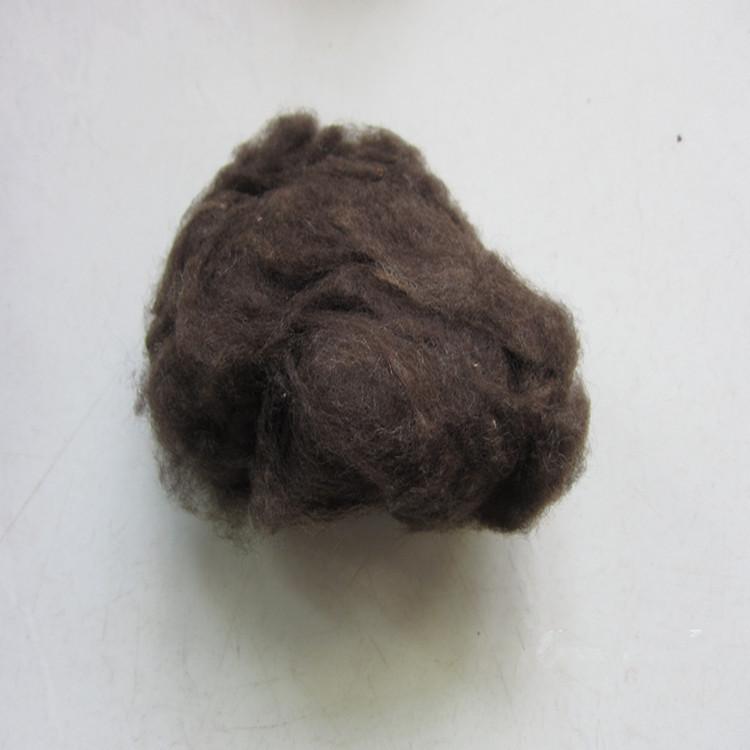 现货供应 青海牛绒原料 原色青牛绒 白牦牛绒