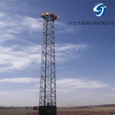 投光灯塔定制 镀锌投光照明灯塔高度可选厂家
