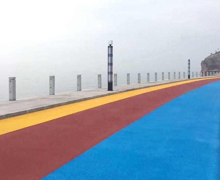 彩色陶瓷颗粒胶粘剂 聚氨酯型亨龙供路面防滑路面胶水
