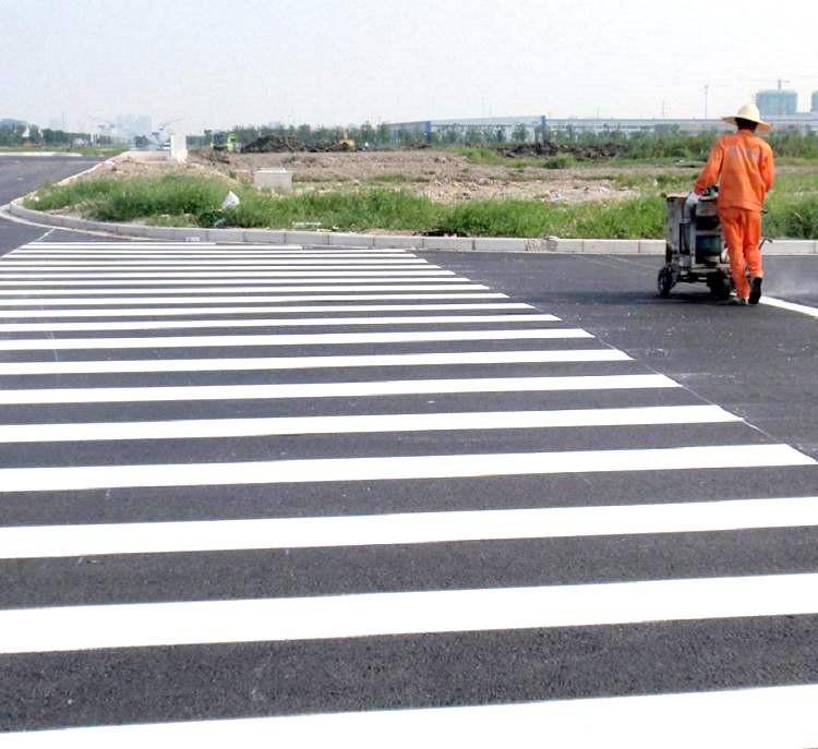 快干黄色白色道路标线漆