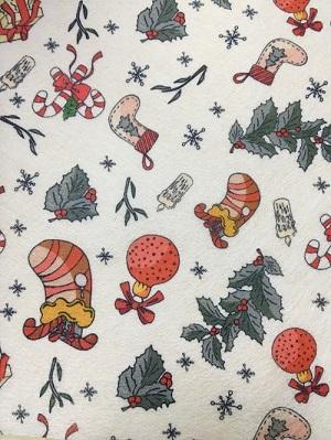 厂家热销印花水刺无纺布 儿童口罩专用无纺布 卡通圣诞节图案