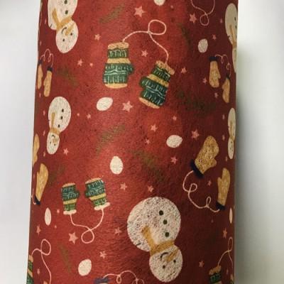 源头厂家供应儿童圣诞老人水刺印花无纺布 一次性口罩用布