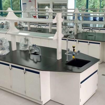 化验室操作台中央台边台哈尔滨厂家批发钢木实验台