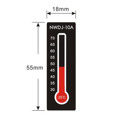 精密可反复变色测温纸NWDJ-10A:25-70度