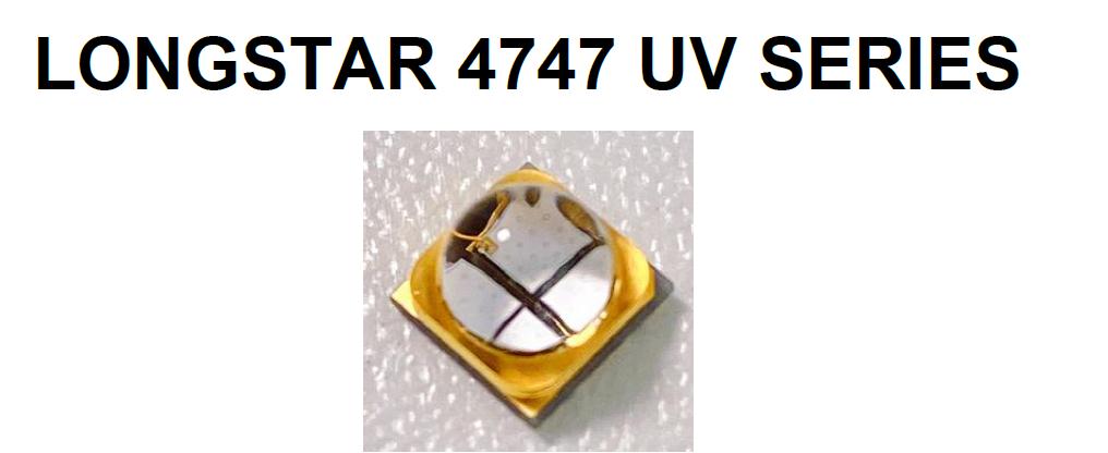 4747 395nm 大功率固化紫外UVALED灯珠