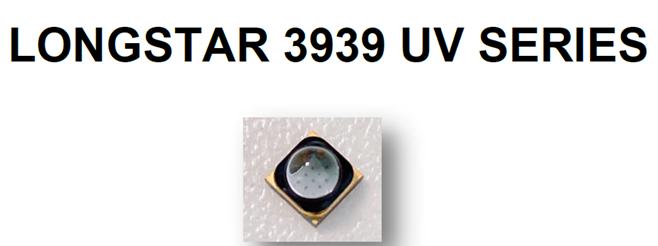 3939 395nm 紫外UVA固化LED 60°