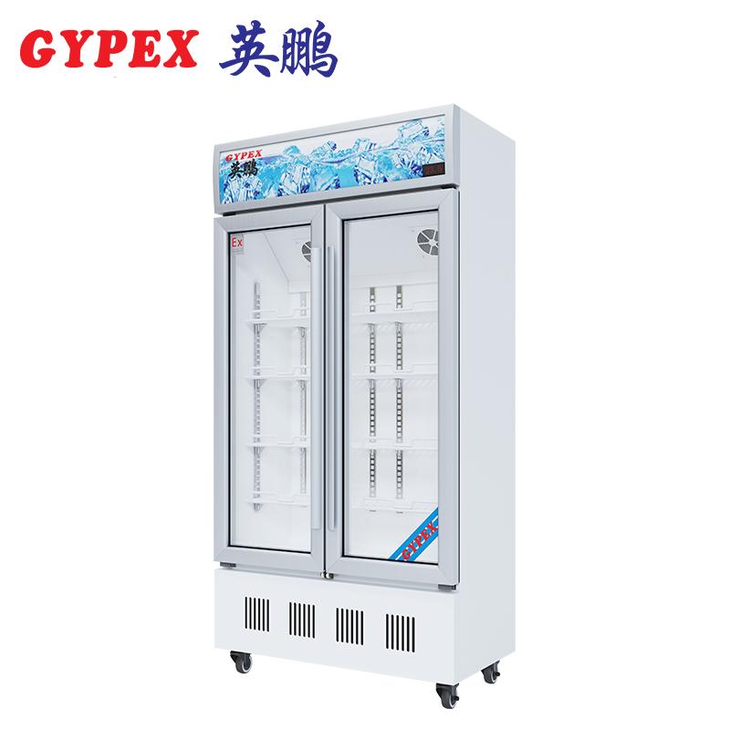 渭南防爆冷藏柜双门玻璃门400L