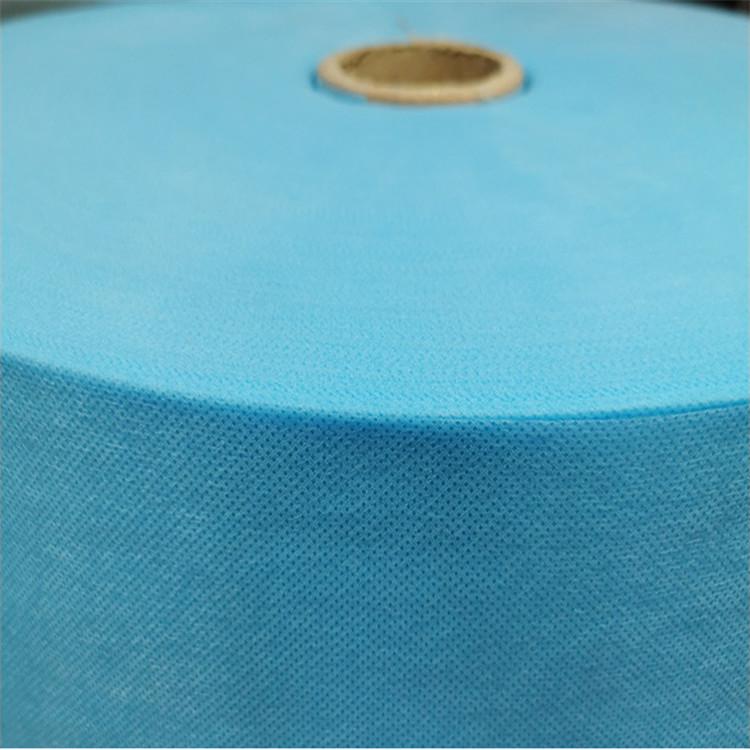 厂家直供纺粘无纺布ss蓝白色一次性口罩用无纺布