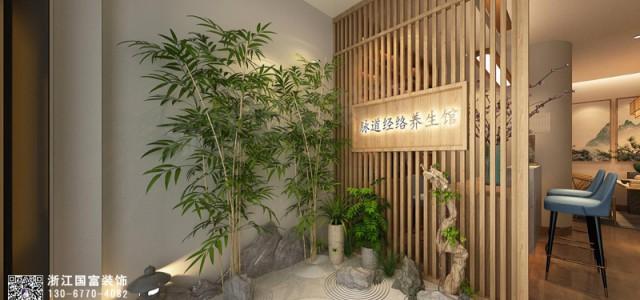 杭州江干区中医养生馆装修设计案例效果图